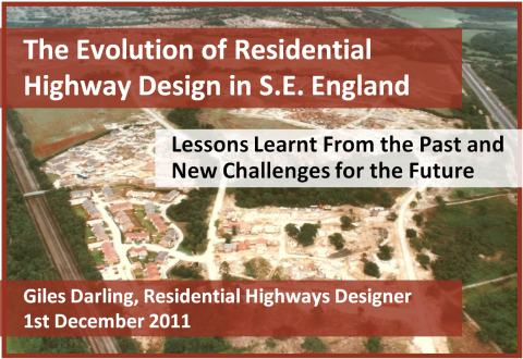 Evolution of Residential Highway Design Presentation