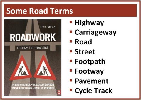 Some Road Terms