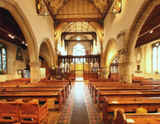 Panoramic Views of Former Interior of Holy Trinity Church, Cuckfield