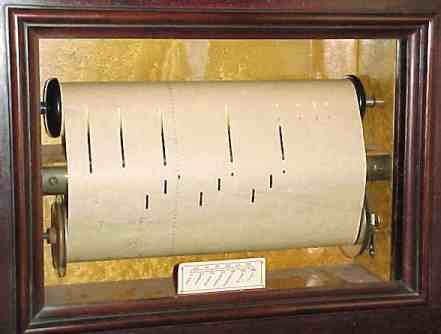 A Pianola Roll Inside A Pianola